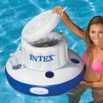 Mega Chill pool beverage cooler, floating inflatable drink cooler