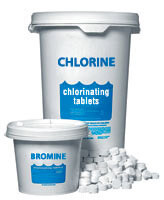 chlorine and bromine tablets