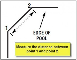 how to measure cut corners on an inground pool