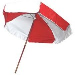 lifeguard umbrellas