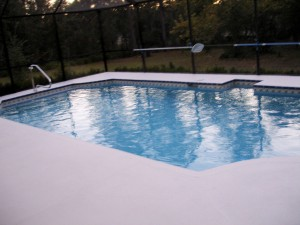painted pool decks look great!