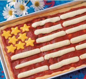 patriotic pizza for fourth of july pool parties