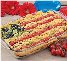 image of american flag taco salad