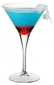 image of red white and blue martini