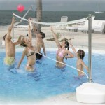 play pool volleyball for fun!