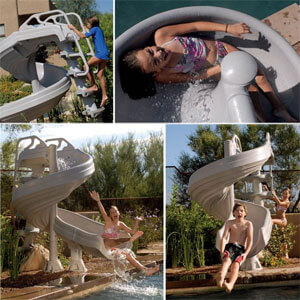 G-Force pool slides, 360 degrees of Fun
