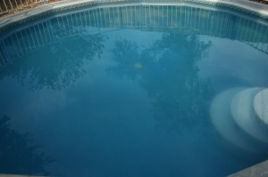 cloudy, murky, hazy pool water