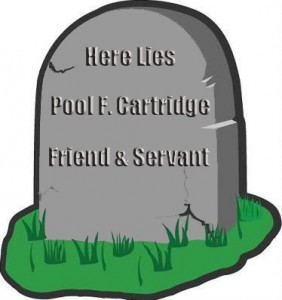 gravestone for Pool F. Cartridge