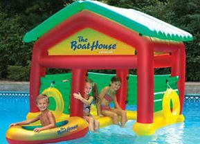 Floating Boathouse inflatable pool toy