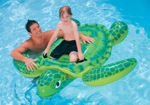 Sea Turtle inflatable pool ride on toys