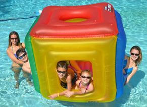 The Inflatable pool cube