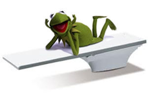 kermit-on-a-diving-board
