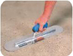 troweling a sand pool floor