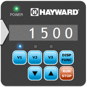 Hayward VS pump controller display