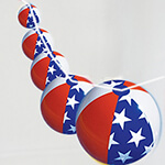Americana Beach Ball Garland