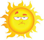 grumpy-sun, purchased from istock
