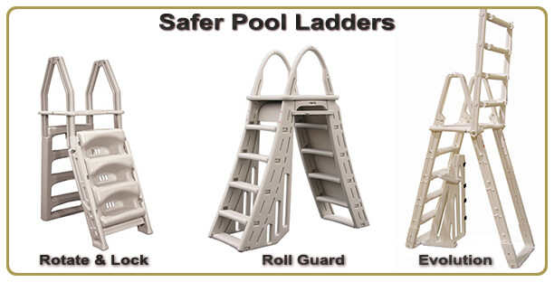 safer aboveground pool ladders