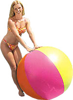 giant-beach-ball with pretty girl