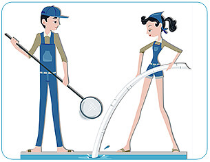 pool cleaners, purchased thru istock