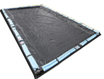 solid winter pool cover shown