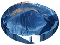A/G pool cover in high winds