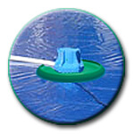 pool cover-pump-on-a frisbee