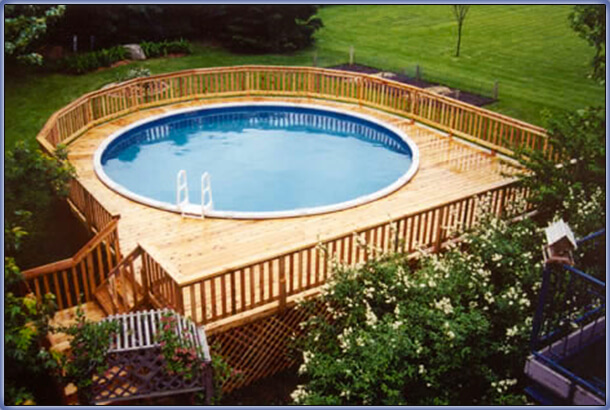 aboveground pool remodeling ideas 1 - Above Ground Pool Deck Off House