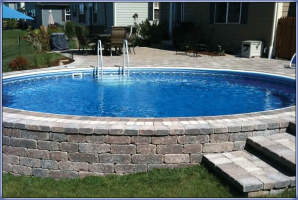 aboveground pool remodeling ideas radiant pools - Above Ground Pool Deck Off House