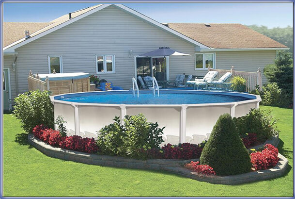 Above Ground Pool Edging Ideas endearing backyard design and decoration using above ground swimming pool deck ideas foxy image of Aboveground Pool Remodeling Ideas 8