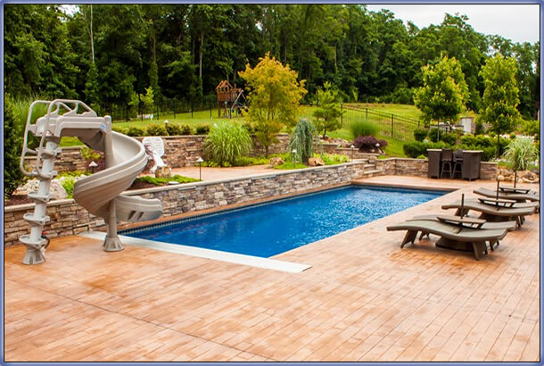 Deck ideas around inground pools joy studio design for Inground indoor pool designs