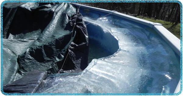 Ice Damage To An Aboveground Pool Intheswim Pool Blog