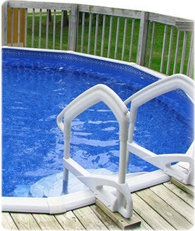 aboveground pool steps and ladders