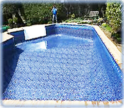 Tools supplies to replace an inground pool liner - How soon can you swim after shocking pool ...