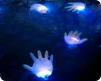 glowing hands - Glow Stick Halloween Decorations