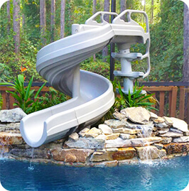 Want To Build A Backyard Water Park Adding 360 Pool Slide Will Make Your The Talk Of Town With Neighborhood Kids Showing Up At Doorstep