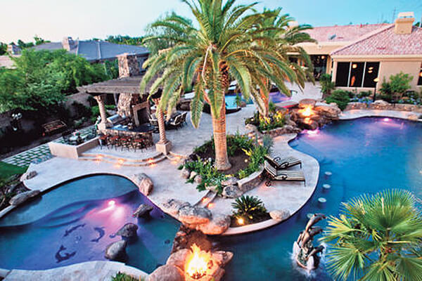 21 lavish celebrity swimming pools intheswim pool blog for Swimming pool meaning in dreams
