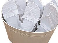 white-flip-flops