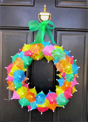 Cafe-LA-umbrella-pick-wreath