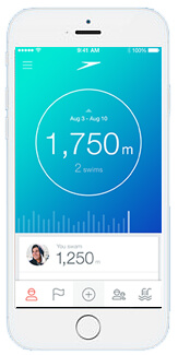 Speedo App for swimmers, track your swimming progress and set goals