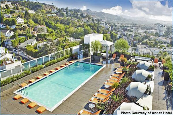 ... Rooftop Pool In Los Angeles. Andaz Hotel West Hollywood