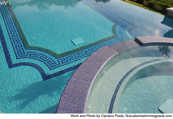 Extraordinary pool mosaic tiles for Pool tile designs