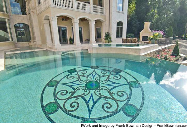 Superieur ... Frank Bowman Design Mosaic Pool