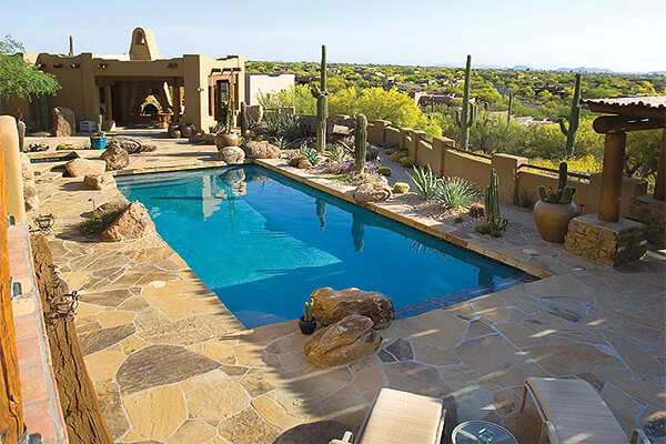 Azul-Verde Design Group, Mesa Az. Pool Design Style: Desert