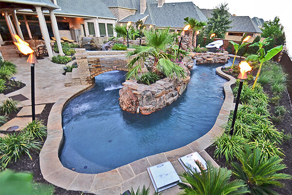Lazy River Swimming Pool Designs lazy river tropical pooltropical designoutdoor Lazy River Pool By Claffey Pools