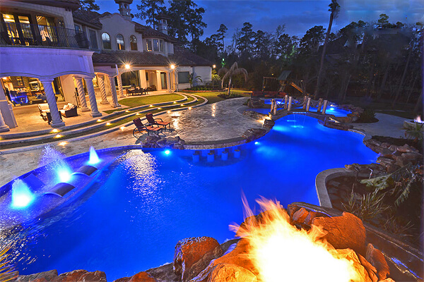 Nighttime Nirvana By Regal Pools