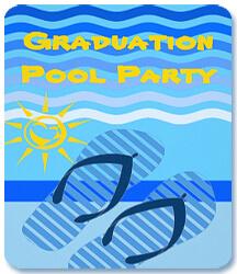 Prom or grad pool party plans intheswim pool blog zazzle grad party invitation filmwisefo