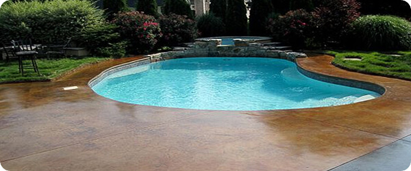 Incroyable Stained Concrete Pool Deck