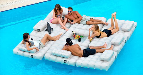 Cool Pool Floats for pool and deck