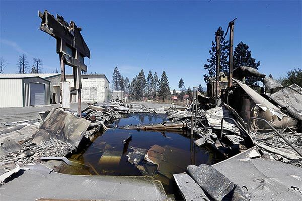 wildfire-damage-to-pool-AP-Photo-Rich-Pedroncelli-via-telegraphcouk