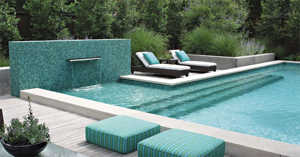Small pool water features intheswim pool blog for Swimming pool design xls
